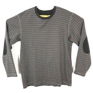 MEC organic cotton elbow patch striped top